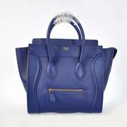 Celine Genuine Leather fashion Shoulder bag dark blue