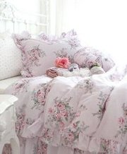 Vintage Pretty Pink Roses Cotton 4pc Duvet Cover Bedding Set-king Size